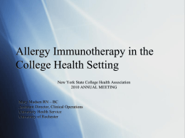 FR-7.02 Allergy Injections in College Health Setting