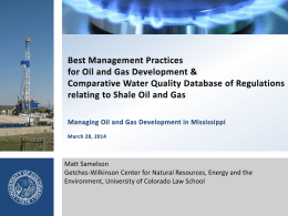 Best Management Practices - Oil & Gas Drilling Best