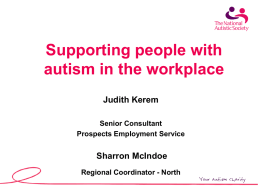 Autism and Employment: An Overview from Prospects