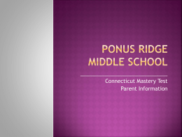 Ponus Ridge Middle School - Home