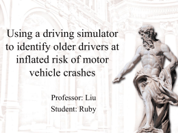 Using a driving simulator to identify older drivers at