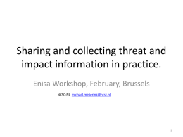 Sharing and collecting threat and impact information in