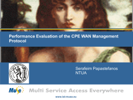 Performance Evaluation of the CPE WAN Management Protocol