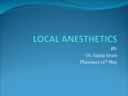 LOCAL ANESTHETICS - Make a free website with a free domain