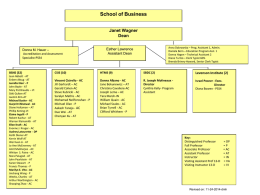 Social and Behavioral Sciences Organizational Chart