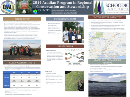2014 Acadian Program in Regional