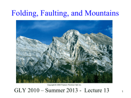 Folding, Faulting, and Mountains
