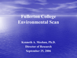 Fullerton College Environmental Scan