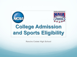 NCAA/NAIA - Cotati-Rohnert Park Unified School District