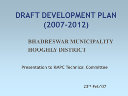 DRAFT DEVELOPMENT PLAN(DDP): OUR VISION