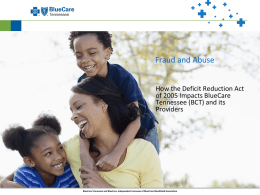 Fraud and Abuse - BlueCare Tennessee