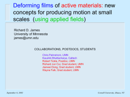 Deforming films of active materials: new concepts for