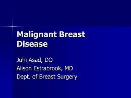 Malignant Breast Disease - Mount Sinai St. Luke's