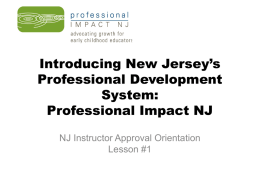 Introducing Professional Impact NJ: New Jersey's