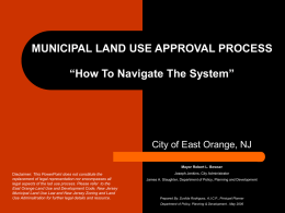 "Land Use Development Process ""How To Navigate"""