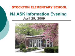 NJASK Information Evening - Cherry Hill Public Schools
