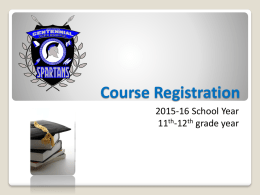 Course Registration - Home