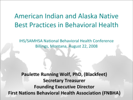 First Nations Behavioral Health Association