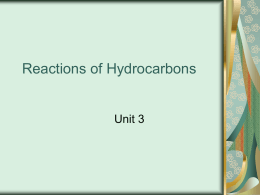 Reactions of Hydrocarbons - Belle Vernon Area School District