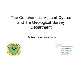 Geochemical Mapping Methodologies and techniques
