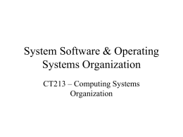 System software - the Department of Information Technology