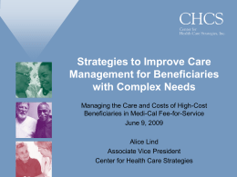 Strategies to Improve Care Management for Beneficiaries