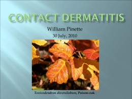 Contact dermatitis - UCI Department of Emergency Medicine