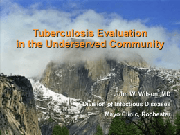 The Medical Evaluation in Diagnosing Tuberculosis 2008