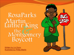 Martin Luther King, Jr., Rosa Parks, and the Montgomery
