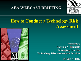 Webcast: How to Conduct a Technology Risk Assessment