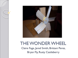 THE WONDER WHEEL - UTK EFD News/Announcements