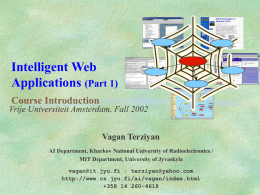 Intelligent Web Applications
