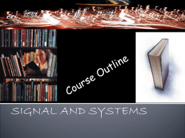 SIGNAL AND SYSTEMS - National University of Sciences and