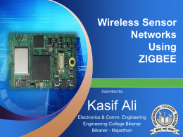 Wireless Sensor Networks Using ZIGBEE