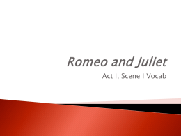 Romeo and Juliet - North Bend Middle School