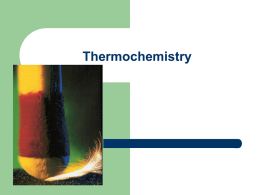 Thermochemistry - Lompoc Unified School District