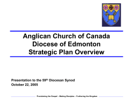 Anglican Church of Canada Diocese of Edmonton Overview of