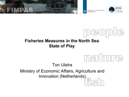 Fisheries Measures in the North Sea State of Play