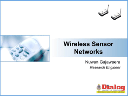 Wireless Sensor Networks & Applications