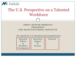 The U.S. Perspective on a Talented Workforce