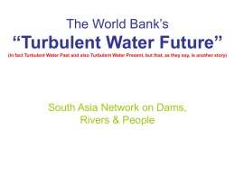 "World Bank's ""Turbulent Future"""