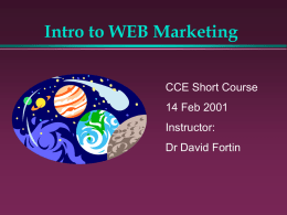 cce short courses 2001 - University of Canterbury