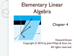 Elementary Linear Algebra - University of Wisconsin