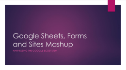Google Sheets, Forms and Sites Mashup