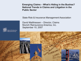 National Trends and Emerging Claims Issues in the Public