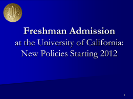 Financial Aid at the University of California