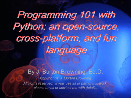 Programming 101 with Python: an open