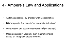 4). Ampere's Law and Applications