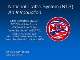 NTS an Introduction - American Radio Relay League