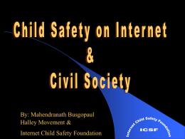Internet Child Safety Foundation's aims & objectives